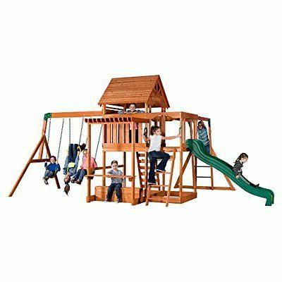 Backyard Monticello All Cedar Wood Playset Set