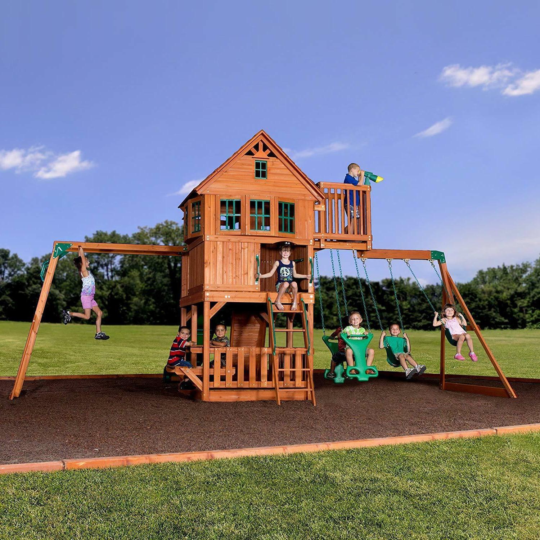 Backyard Discovery Skyfort All Cedar Swing Set