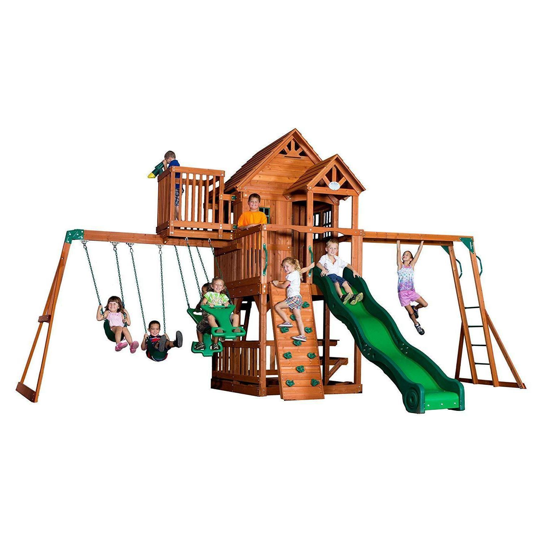 backyard discovery skyfort ii all cedar wood