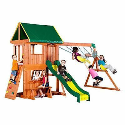 Backyard Discovery Somerset All Cedar Wood Playset Swing