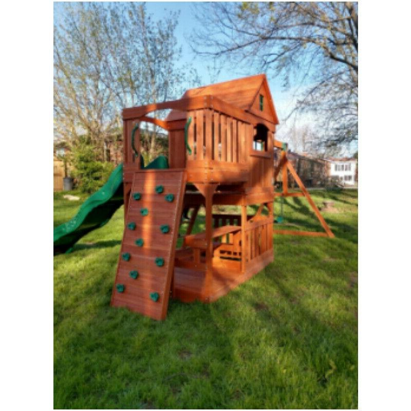 Backyard Pacific All Cedar Swing Mat Seat Equipment