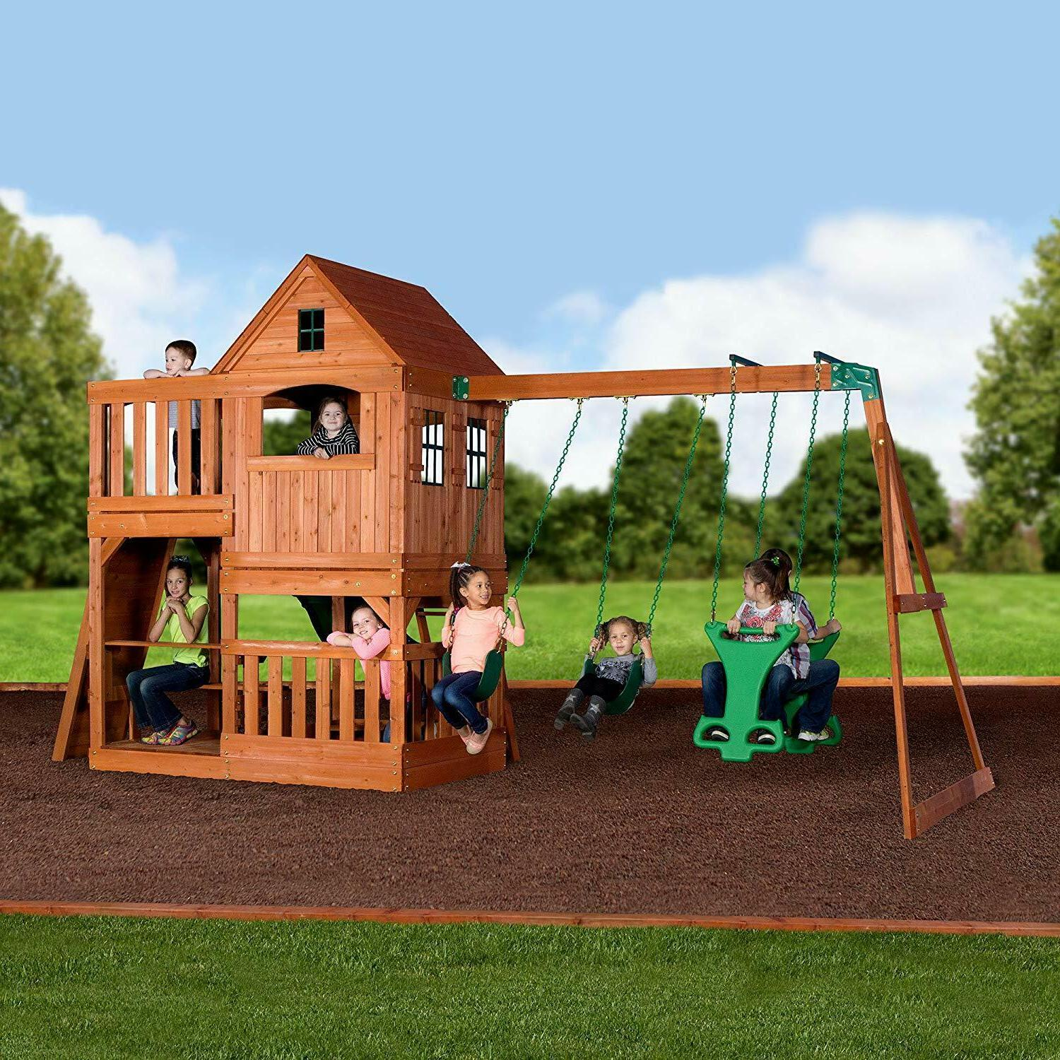 Backyard Cedar Wood Swing