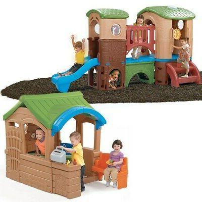 backyard retreat climber playhouse