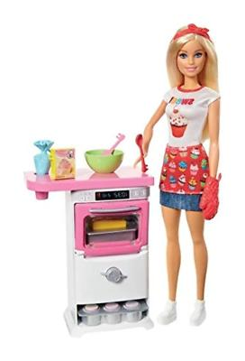 bakery chef doll and playset blonde