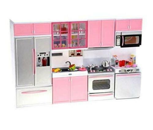 Barbie 4 Piece Modern Kitchen Set For