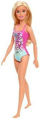 Barbie Doll, Blonde, Wearing Swimsuit, for Kids 3 to 7 Years