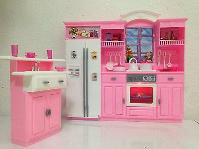 Barbie Size Dollhouse Furniture - My Kitchen Play Set, New