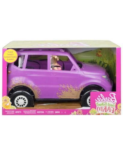 barbie sweet orchard farm suv with barbie