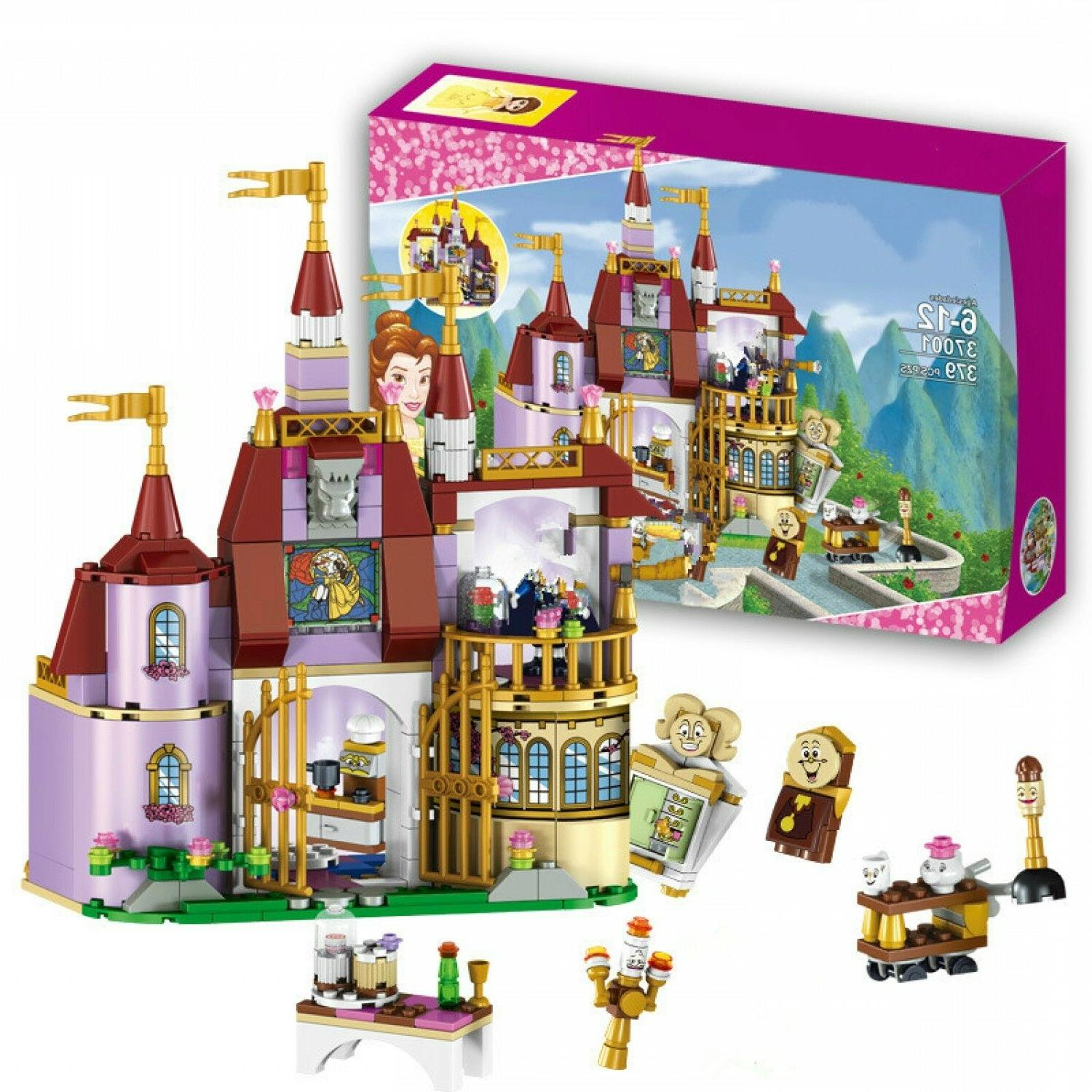 beauty and the beast castle blocks princess
