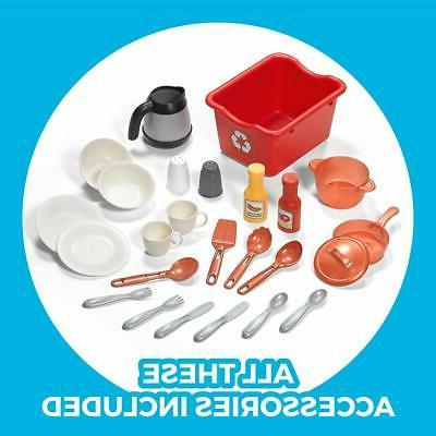 Step2 Playset | Kids Kitchen with 25-Pc Toy Accessories