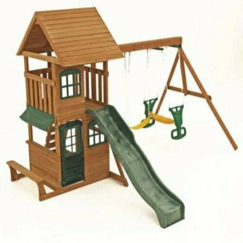 Big Windale Cedar Swing Set Outdoor Playground Kid