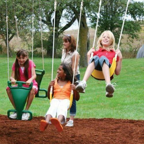 Big Backyard Cedar Swing Playground Slide