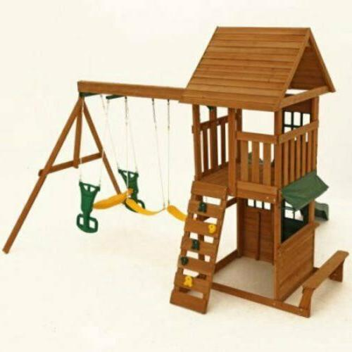 Big Cedar Swing Playground Playset