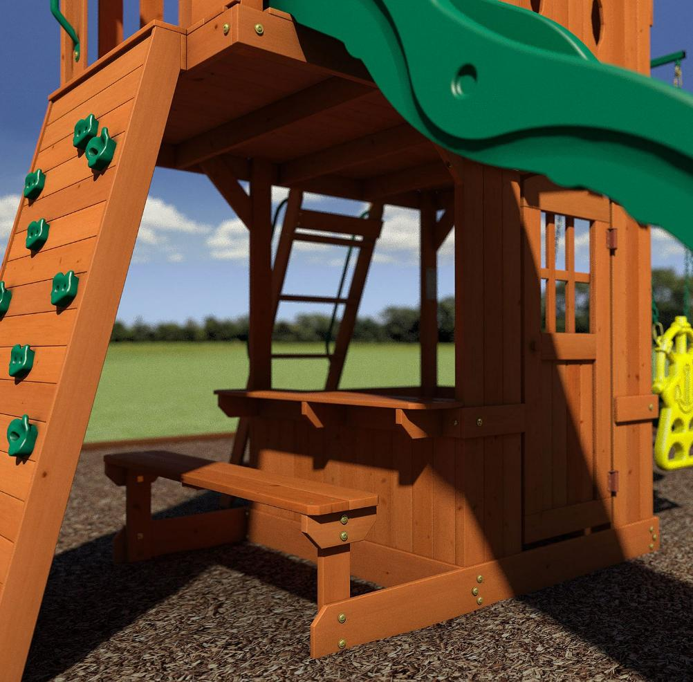 Big Discovery Playset Swing Fort Slide Glider