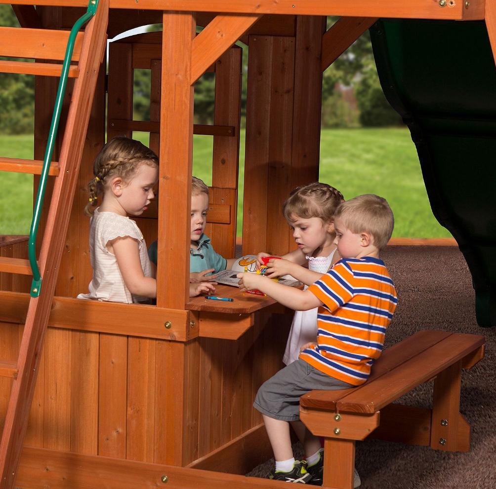 Big Backyard Swing Set for kids Fort Slide Glider Clubhouse