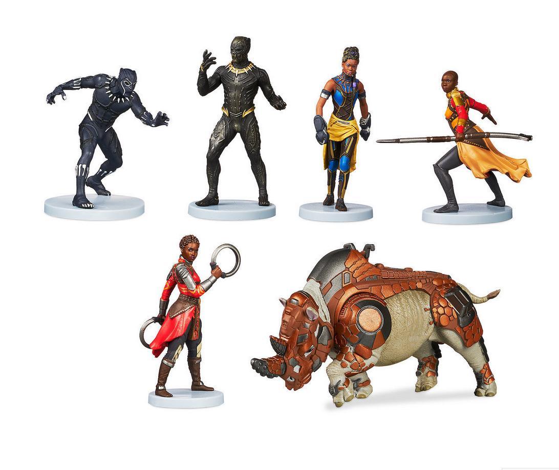 black panther 6 piece figure play set