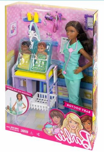 careers baby doctor african american doll playset