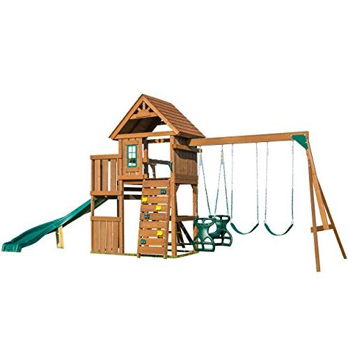 Swing-N-Slide 8272 Cedar Brook Two Monkey Bars, Picnic Glider,