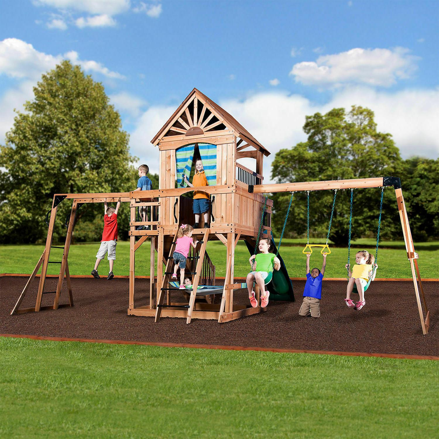 Cedar Swing Set Playground Discovery