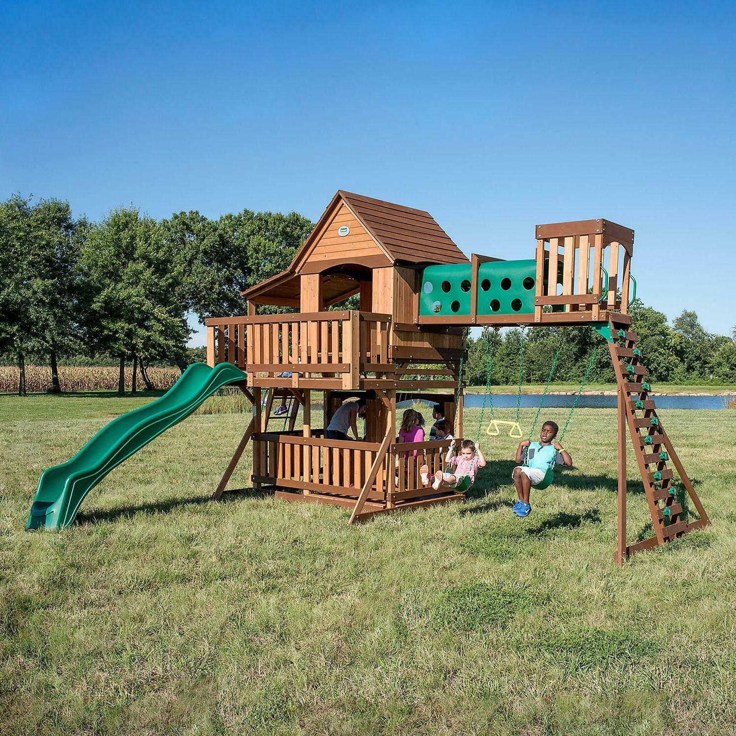 cedar swing set play set playground oceanview