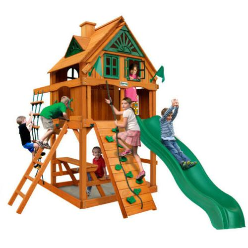 Chateau Treehouse Swing Set with