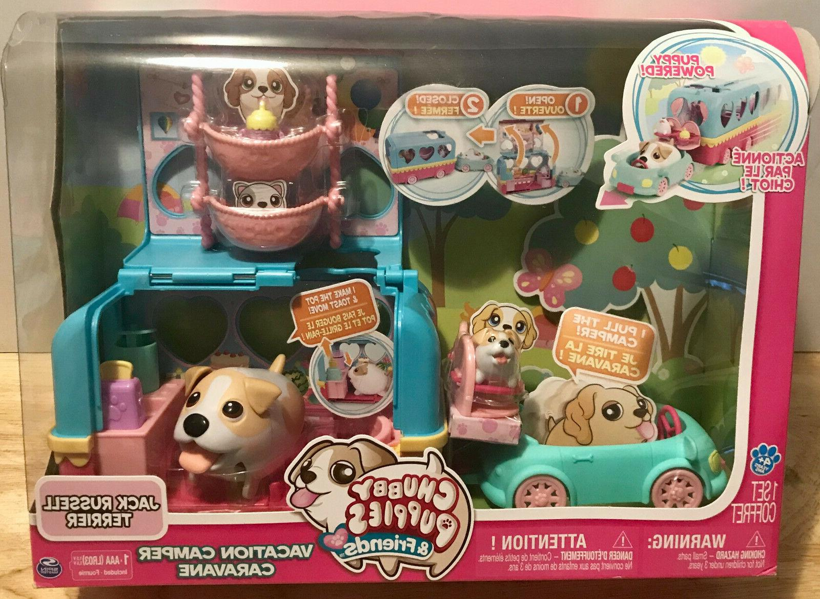 chubby puppies and friends vacation camper playset