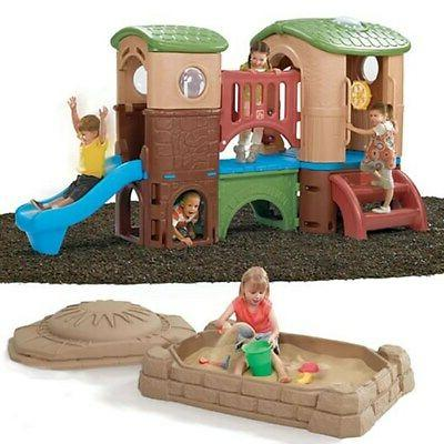 clubhouse climber and sandbox combo kids outdoor