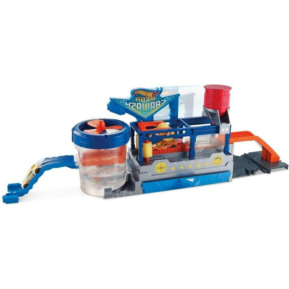 Hot Wheels Color Change Mega Wash and Cars and Conveyer Track