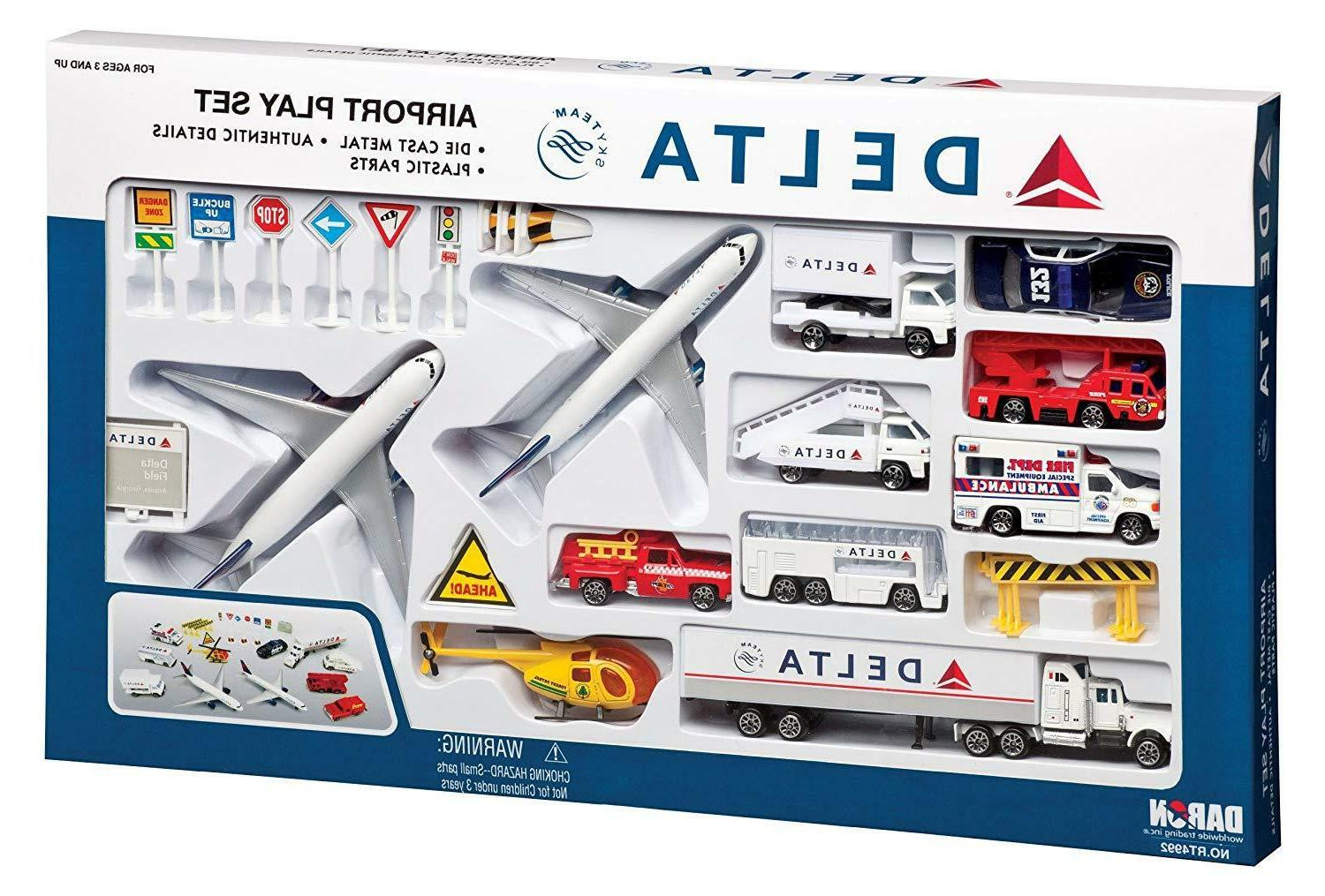 delta 25pc airport play set