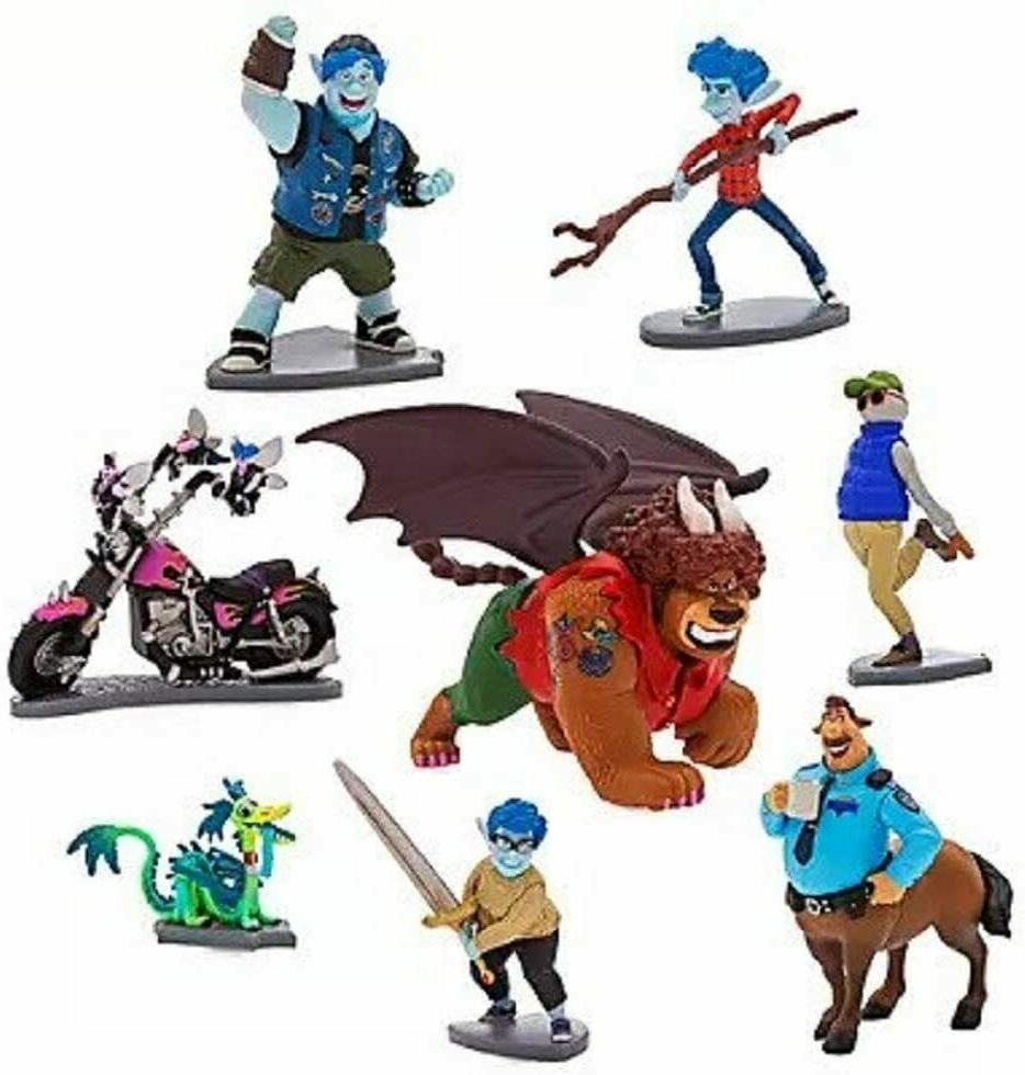 Disney Onward Deluxe Figure Play Set 8 Figurines Pixar Age 3