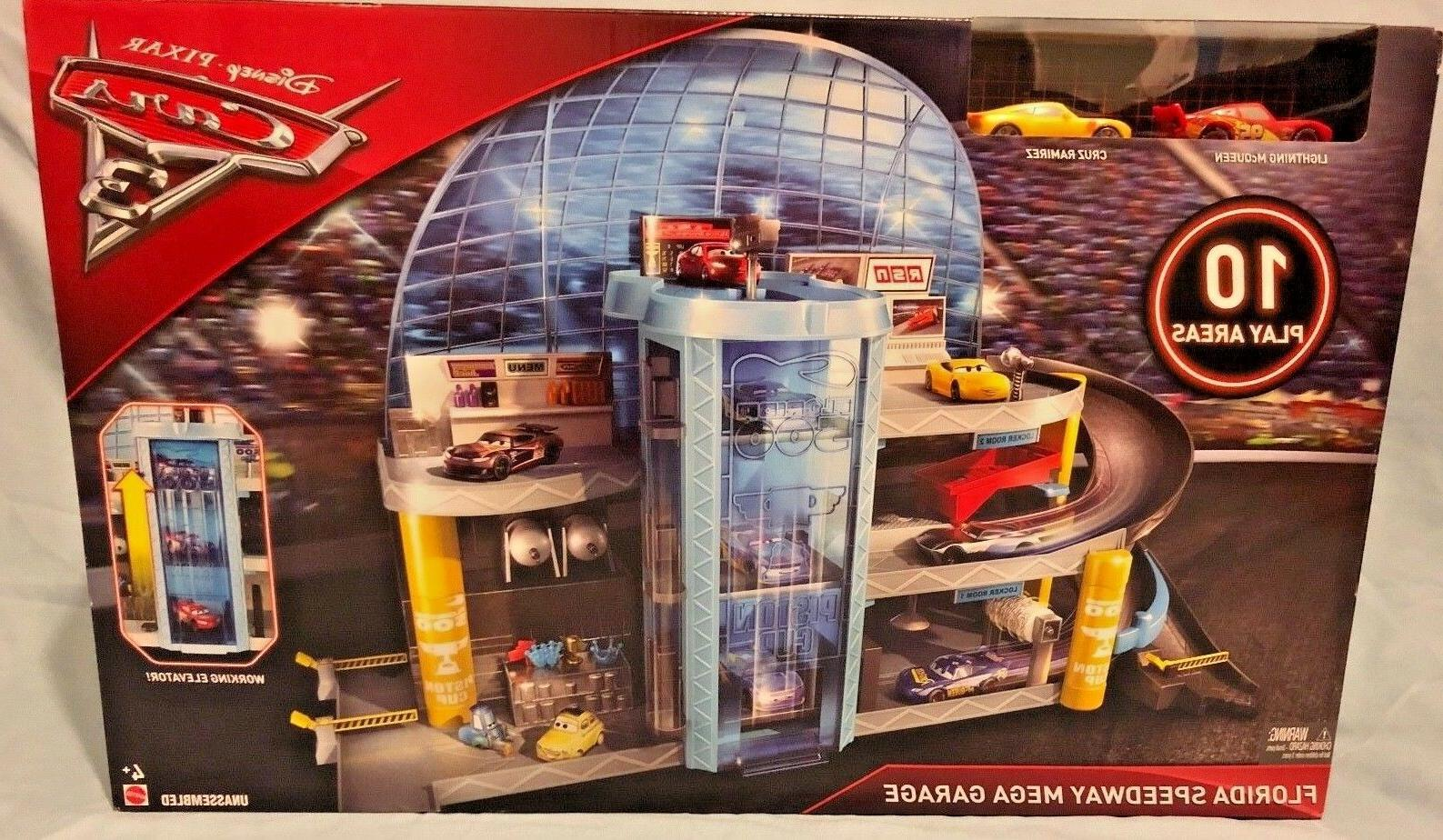 disney pixar cars 3 florida speedway garage