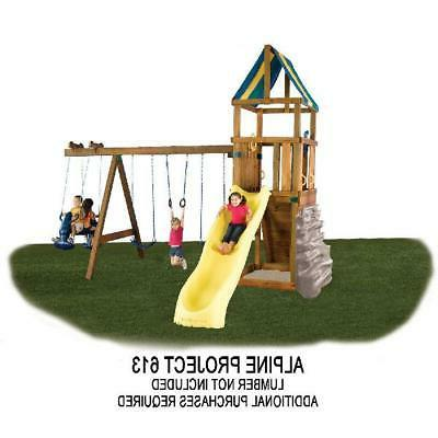 DIY Outdoor Backyard Playground Hardware Kids Play Set Swing