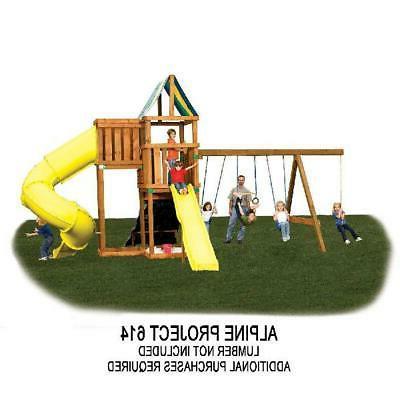 DIY Outdoor Hardware Play Swing Slide Playhouse