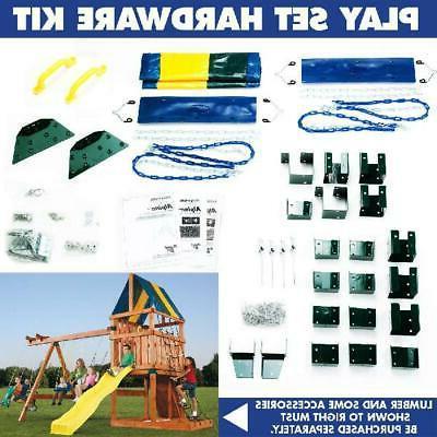 DIY Backyard Hardware Kids Play Swing Slide