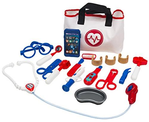 Doctor Play Set - 18 pieces, with medical bag