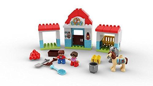LEGO DUPLO Town Farm Pony Stable Building Blocks