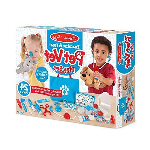 "Melissa & & Treat Pet Play & People Play Sets, Children 13.5"" x L"