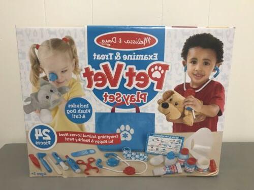 examine treat pet vet play