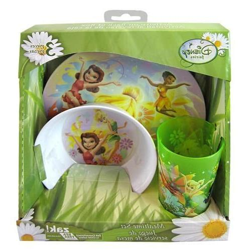 fairies tinkerbell dinnerware gift set