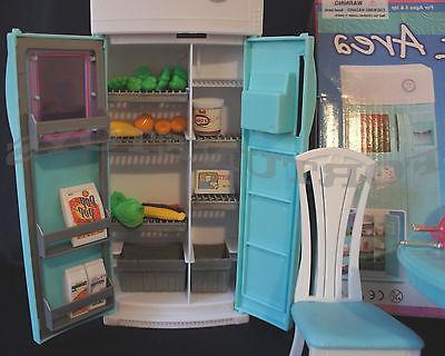 FANCY LIFE DOLLHOUSE FURNITURE DINING w/Refrigerator FOR BARBIE