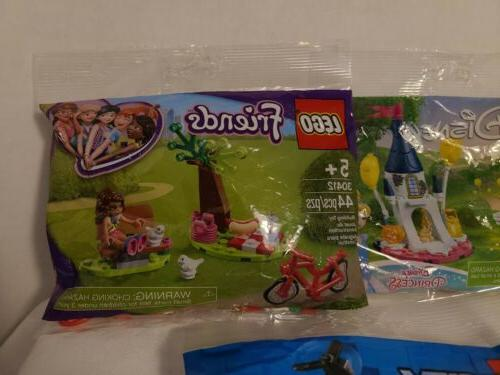 Lego fig and sets bag. Of 5 NEW SEALED