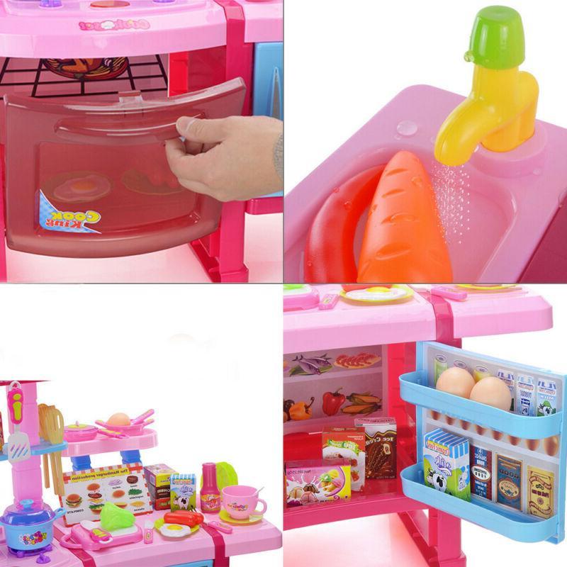 Funny Kitchen Pretend Playset Play Friends Kids Kitchen
