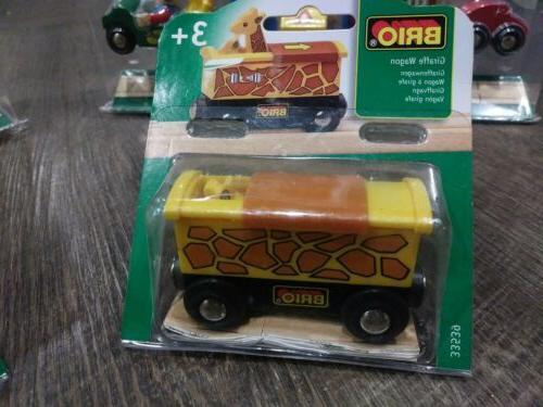 Brio play fire play giraffe wagon car new
