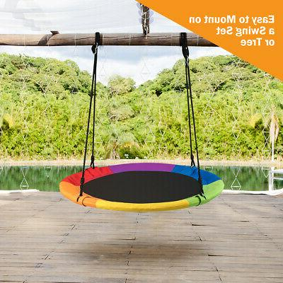 Giant Flying Saucer Tree Swing Indoor Play Set for Kids
