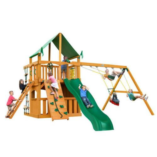 Gorillaplay Sets Home Playground Chateau Clubhouse Set and Canopy