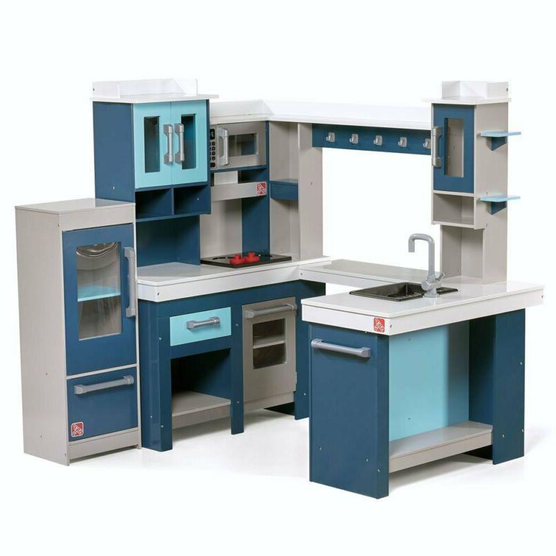 grand walk in wooden play kitchen