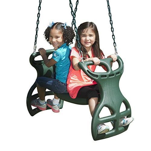 Swing-N-Slide PB Brook Set Two Swings, Slide, Bars, Picnic