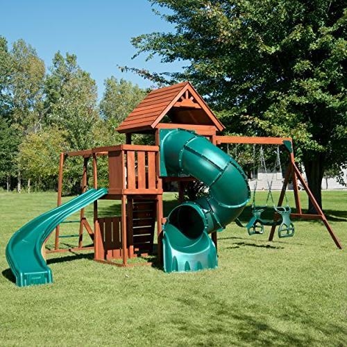 Swing-N-Slide Wood Swing