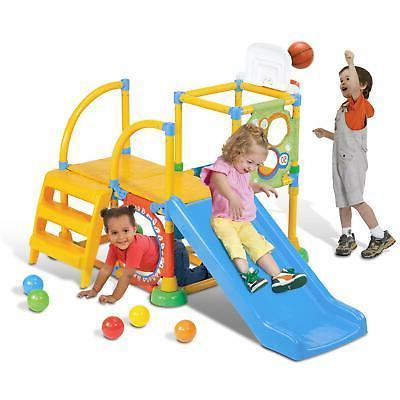 Grow'n Up Indoor Outdoor Toddler Climb & Slide Jungle Gym Ki