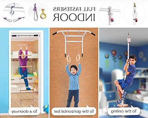 Kids play set - gyms kids playset for girls - Gorilla kit ladder, gymnastics rings